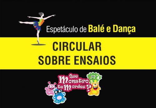 Datas dos ensaios – Balé e Dança 2019