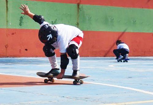 Radicalizando com o skate na escola